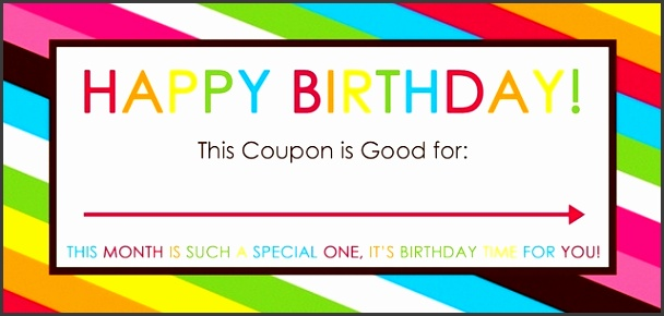 Free Printable Birthday Coupons Overstuffed regarding Blank Birthday Coupon Template 2351