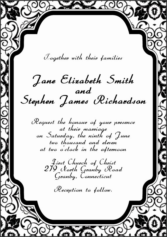Elegant Black and White Wedding Invitation Templates