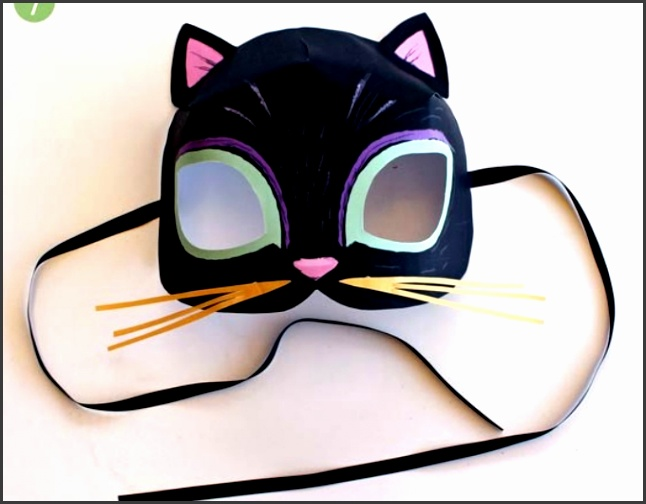 paper black cat mask