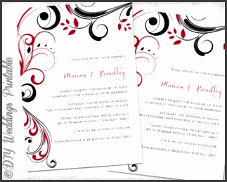 Red Black And White Wedding Invitation Templates Wedding Invitation Templates Black and And Blank Wedding Invitation