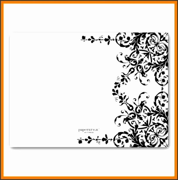 Wedding Invitation Templates Blank: 5 Blank Black And White Wedding Invitation Templates