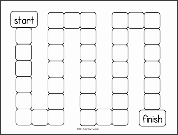 Blank board game template picture Blank Board Game Template Newfangled Gallery Printable Templates with medium image