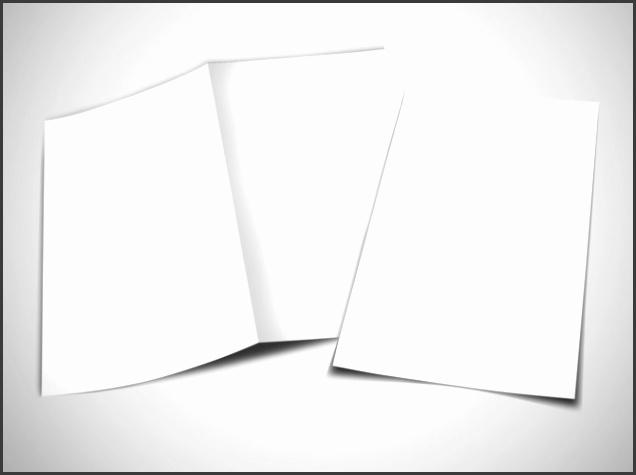 blank canvas bi fold brochure template 1