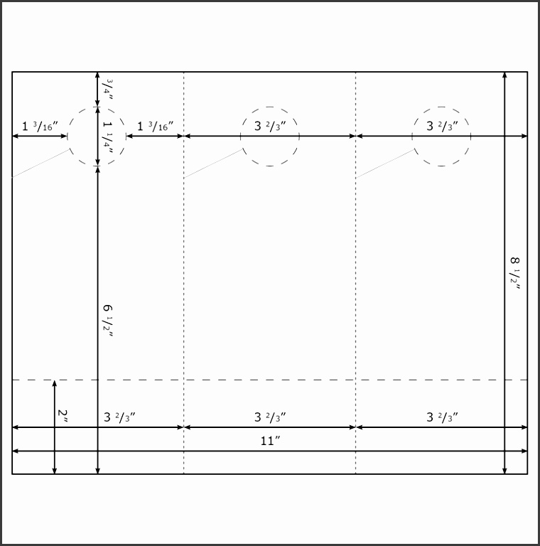 Burris Blank 3UP Door Hanger w Business Cards Template for Micro
