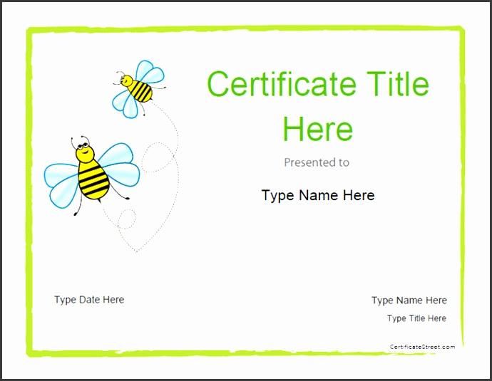 Blank Certificates Blank Certificate Template for Kids