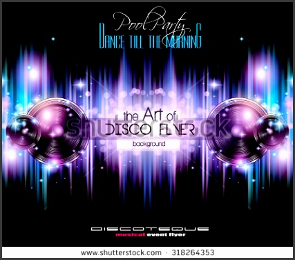 Disco Club Flyer Template for your Music Nights Event Ideal for TEchno Music Hip