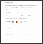 Credit Card Authorization Form Template Pdf Gallery