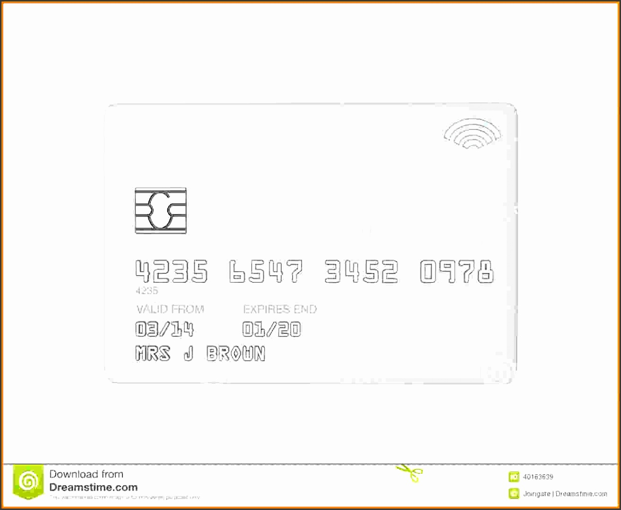 blank credit card blank white template white credit card crad background as design