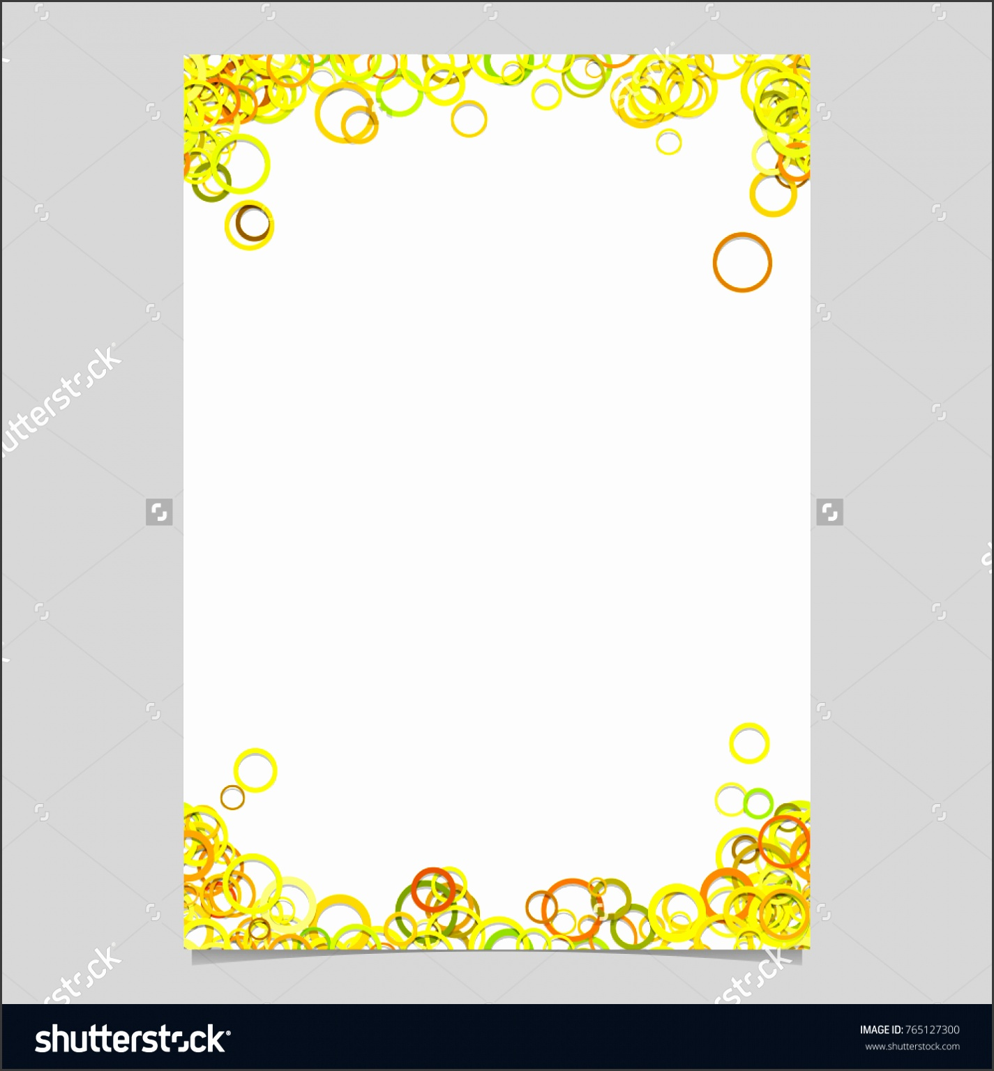 Color abstract random circle design flyer background template trendy vector blank brochure border graphic from