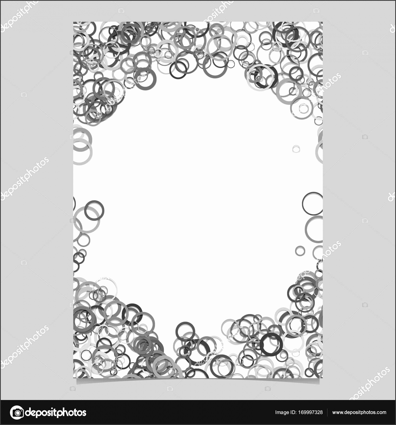Abstract random circle design flyer background template trendy vector blank brochure border graphic design from rings — Vector by davidzydd