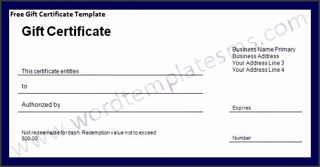 Word Gift Certificate Template Fresh Blank Gift Certificate Template Word Best 25 Printable Gift