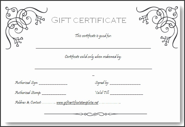 Gift Certificate Templates Free Printable