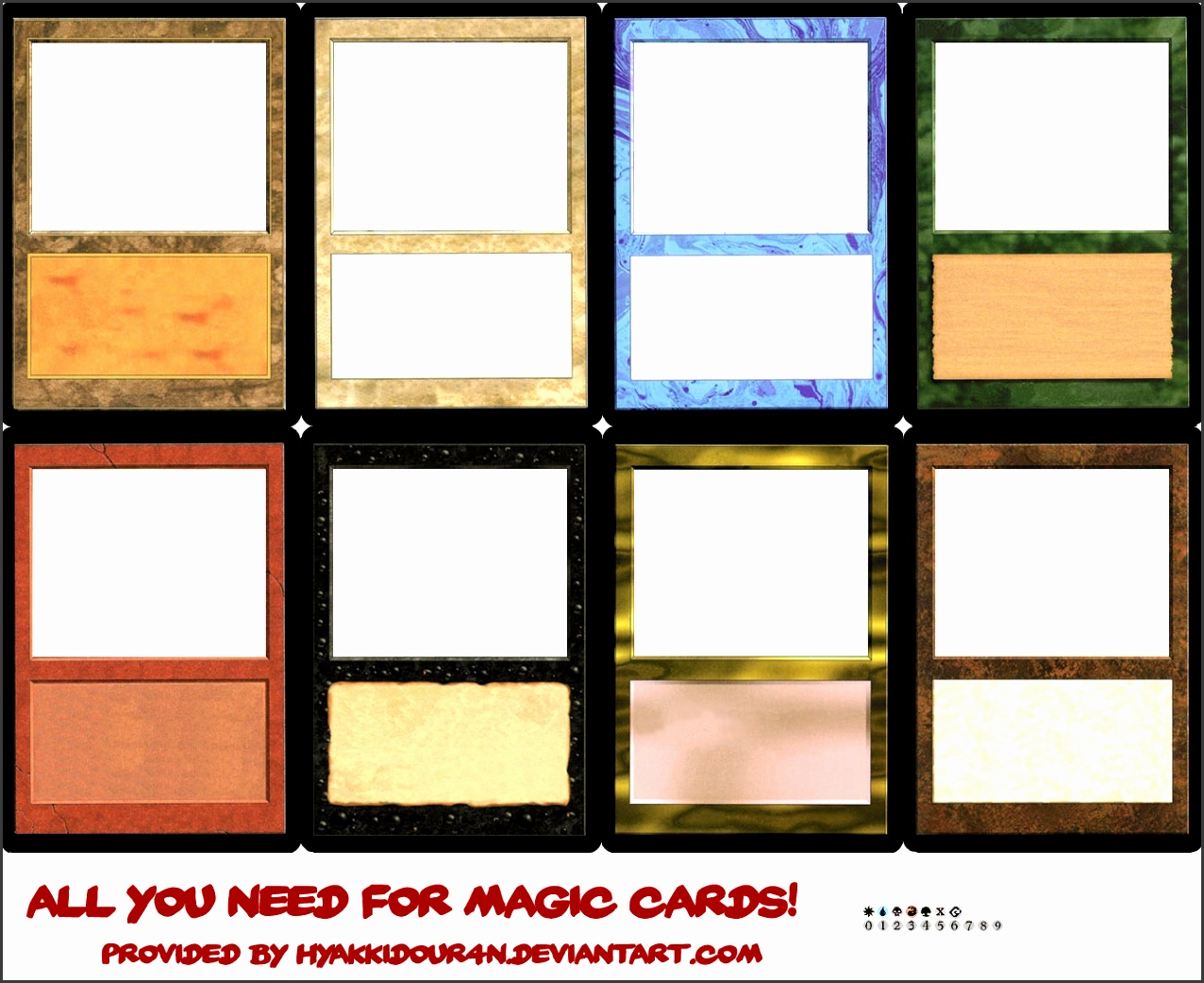 Magic cards templates by HyaKkiDouR4n Magic cards templates by HyaKkiDouR4n