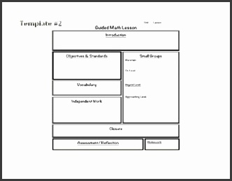 Math Guided Math Blank Templates & Lesson Plan Examples