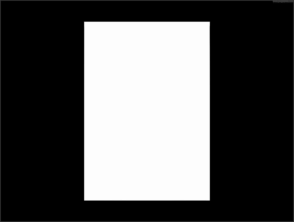 Blank paper – transparent PNG