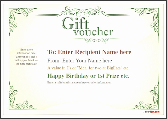 t voucher template classic design 2 full page Image