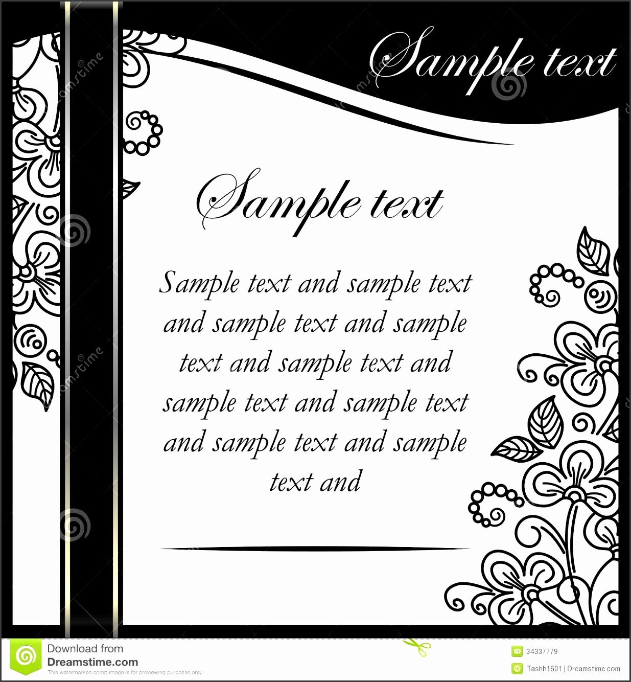25 Blank Black And White Wedding Invitation Templates