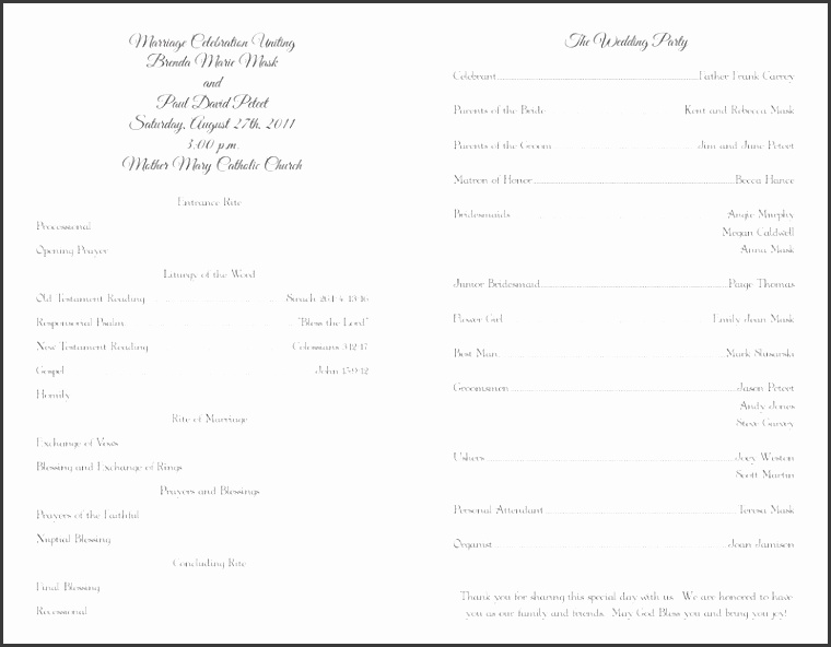 Full Size of Designs free Free Blank Wedding Program Templates With Ilustration High Definition Hd