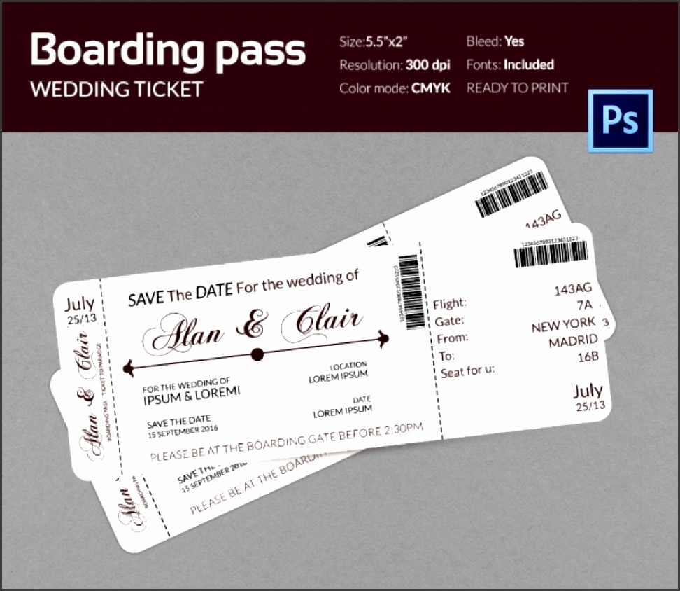 Boarding Pass Invitation Template 36 Free Psd Format Download for Fantastic and to Lovely Boarding Pass