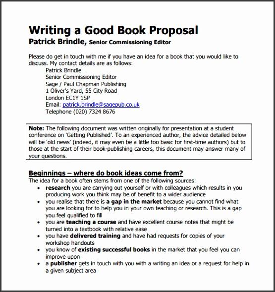 Writing a Good Book Proposal PDF Downlaod