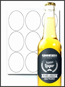 Select This Template · Oval Beer Labels