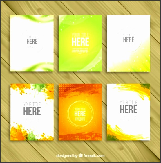 Variety of Brochure Templates Free Vector Download