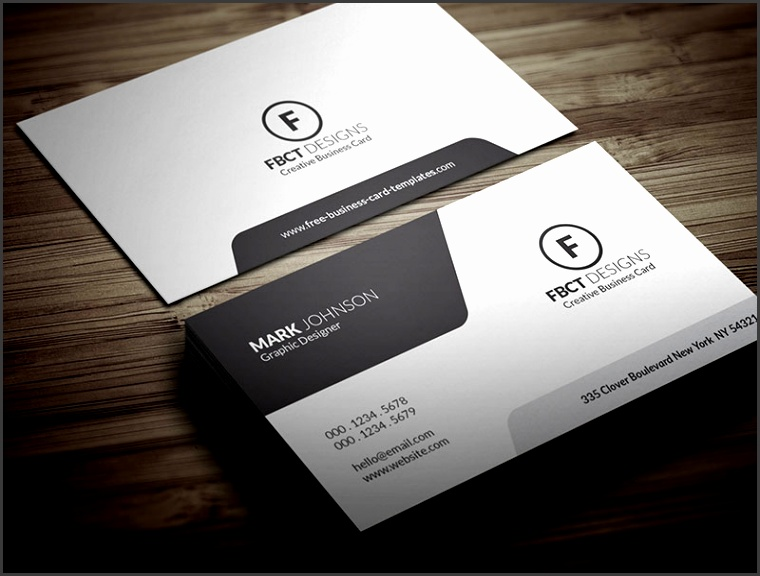 Free Clean & Stylish Monochrome Business Card Template