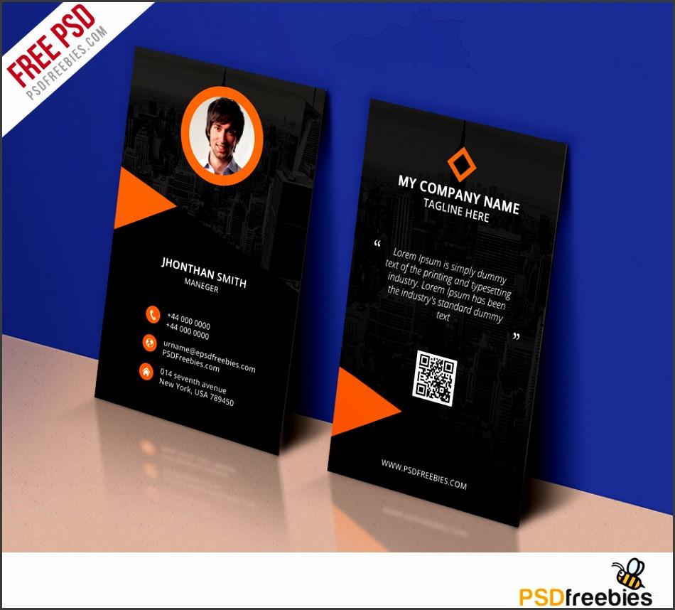 Modern Corporate Business Card Template Free PSD Freebie