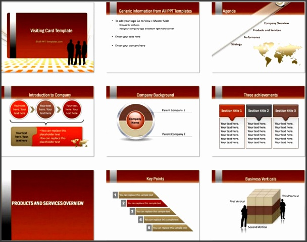 Details of templates in this set PowerPoint Visiting Card