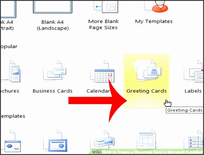 Image titled Create a Christmas Card in Microsoft Publisher Step 1