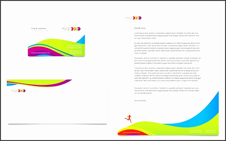 Publisher Business Card Templates Best Personal Trainer Business Card & Letterhead Template Word