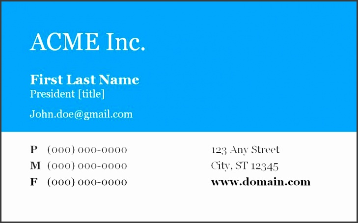 A blue and white business card template