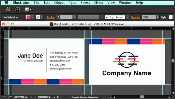 Create the design in Illustrator shop or InDesign Business card dimensions