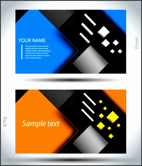 Business card template for mercial use free vector 109 005 Free vector for mercial use format ai eps cdr svg vector illustration