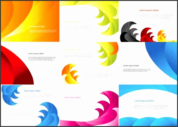 Color Business Cards Templates Free vector 656 41KB