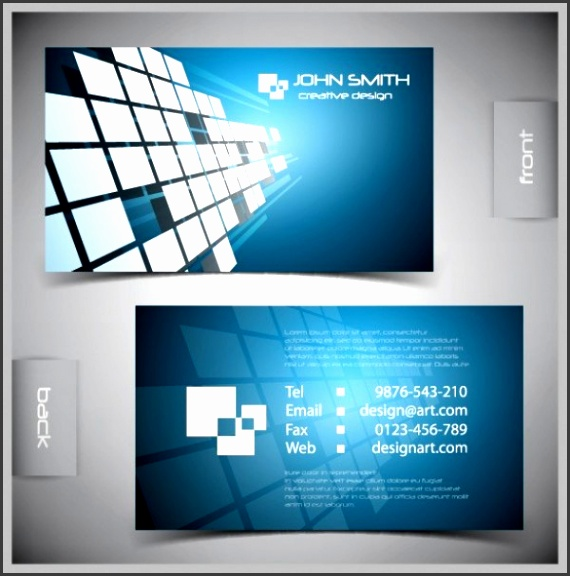 Squares Vector Business Card Templates