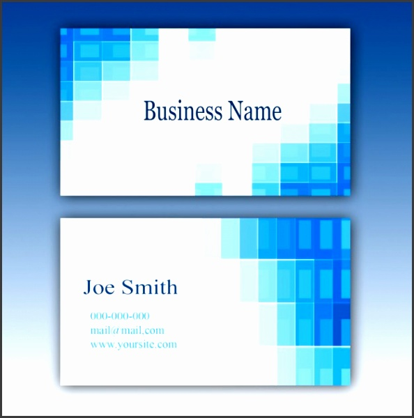 Blue business card template Free Psd