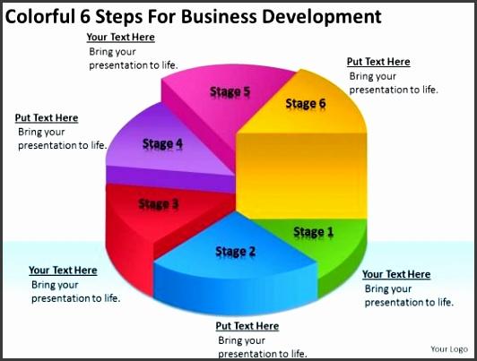 Business Development Plan PowerPoint Templates colorful 6 steps for business development plan powerpoint templates 1