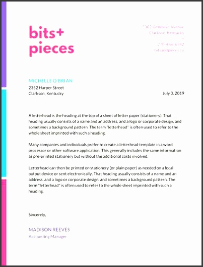 letterhead examples colorful line border pany letterhead letterhead templates word 2003 free letterhead examples