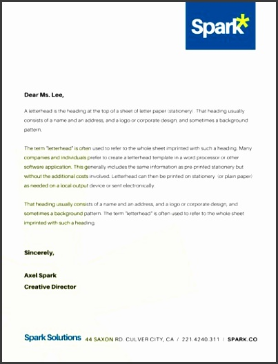Corporate pany Business Letterhead