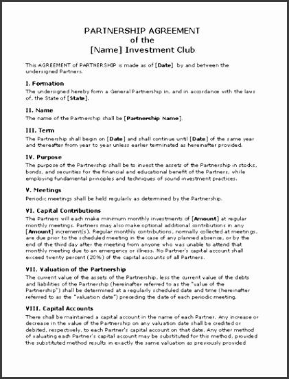 contract of partnership sample partnership agreement template microsoft word templates