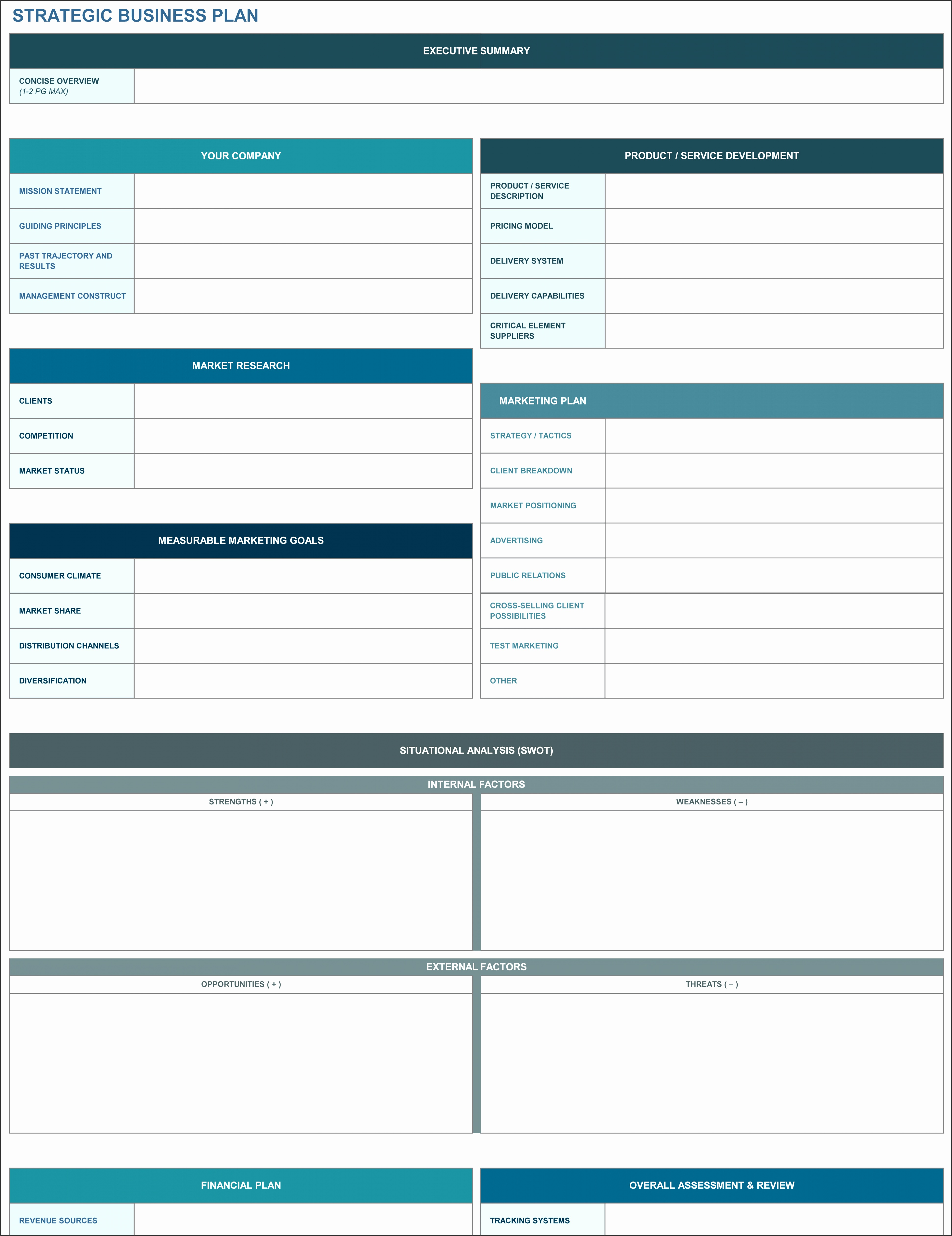Download Strategic Business Plan Template