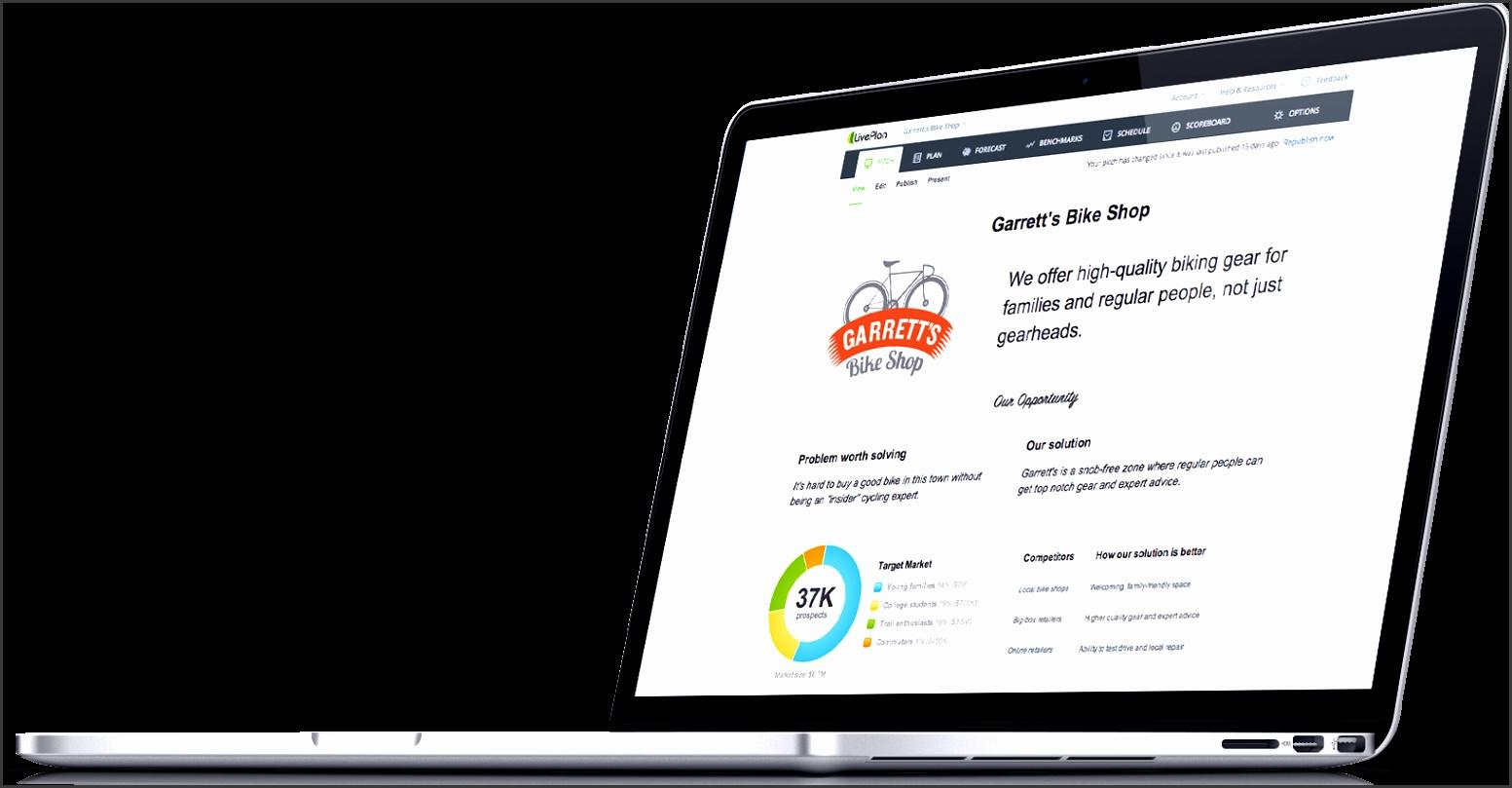 Laptop business plan example