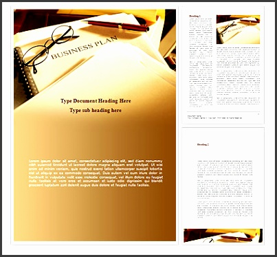 Business Plan Analytic Word Template Business Concepts — PoweredTemplate