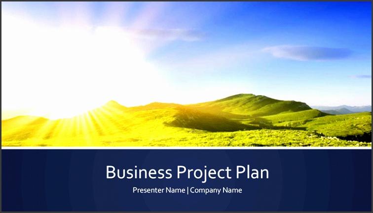 Business project plan presentation widescreen