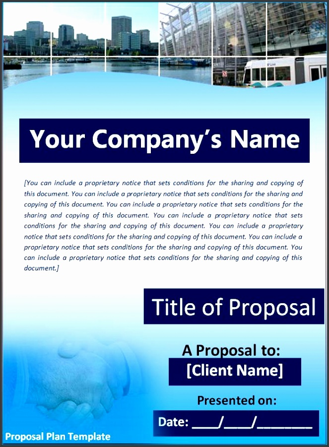 Proposal Plan Template