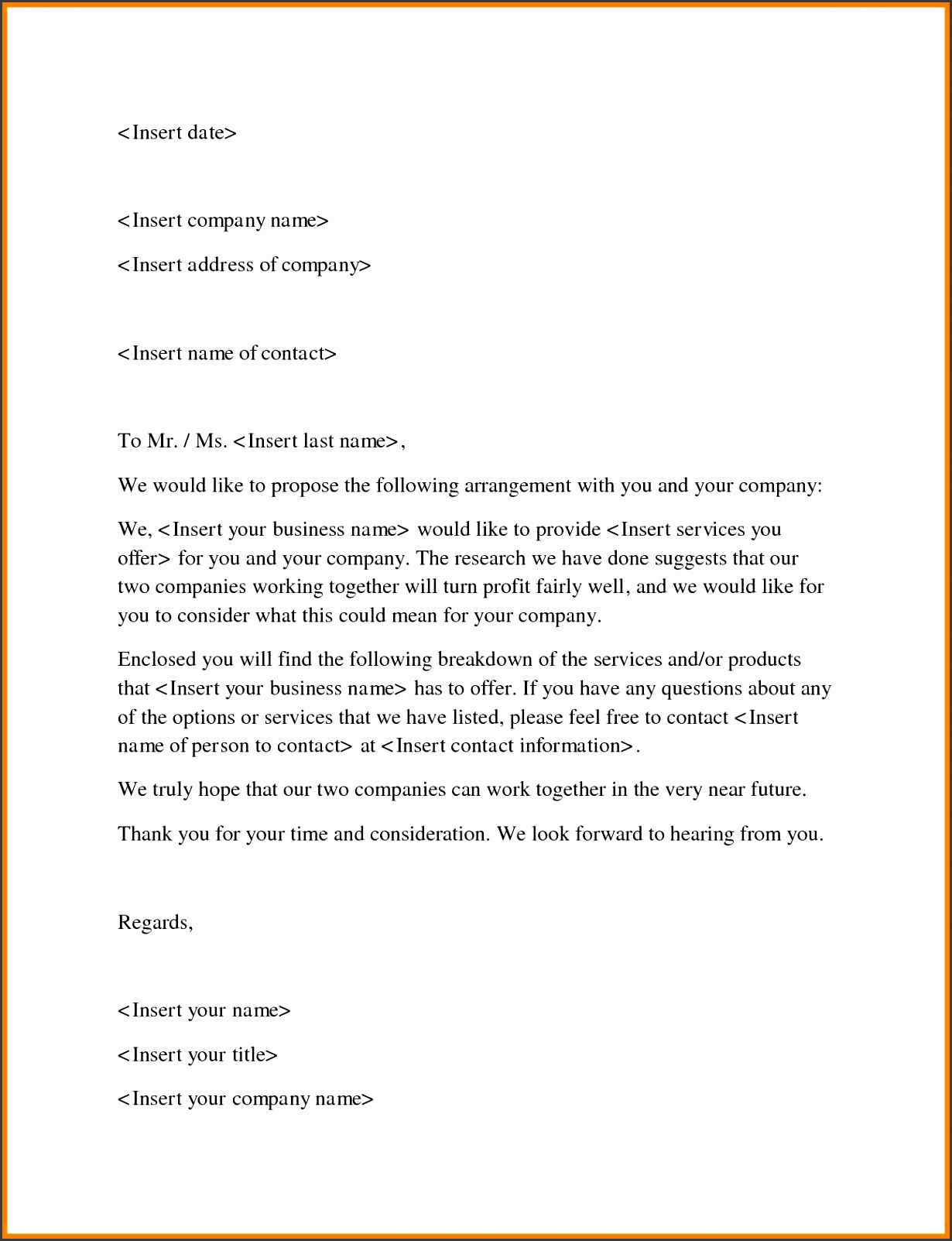 6 Business Proposal Letter Template Free Report Examples Business Proposal Letter Template Free 10 6 Business