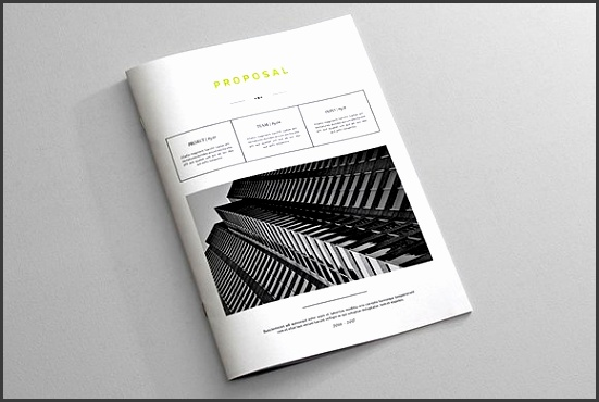 Indesign Business Proposal Template Brochures