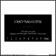 Loyalty Black Coffee Punch Card Business Card Templates