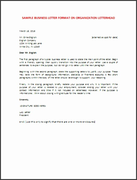 6 Samples Business Letter Format To Write A Perfect Letter with Formal Business Letter Format